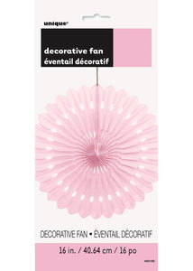 Pink - Lovely Pink Fan - Paper Fan - 16in