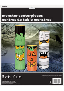 Halloween Monsters Centerpieces 3pk
