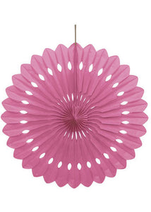 Pink - Hot Pink - Paper Fan - 16in