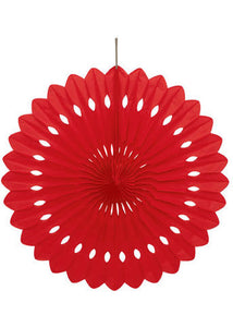 Red Fan - Paper Tissue Fan - 16in