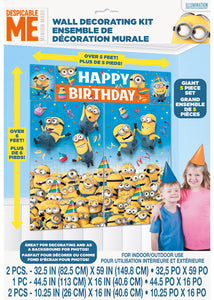 Despicable Me Decoration - Wall Decorating 5 Piece Kit