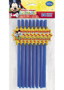 Disney - Mickey Party Loot - Party Straws 24pk