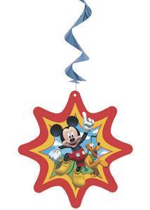 Disney - Mickey Mouse Decoration - Hanging Swirl 3pk