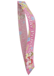 "Disney Princess Sparkle Sash - ""Happy Birthday"" Sash"