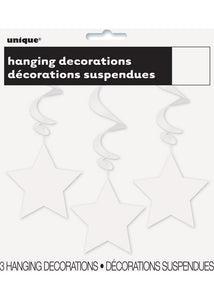 White Star - Hanging Star Swirls 3pk - 26in