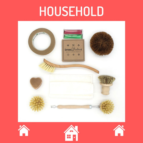 Selection of plastic free household items