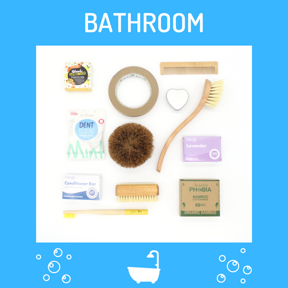 Selection of plastic free bathroom toiletries