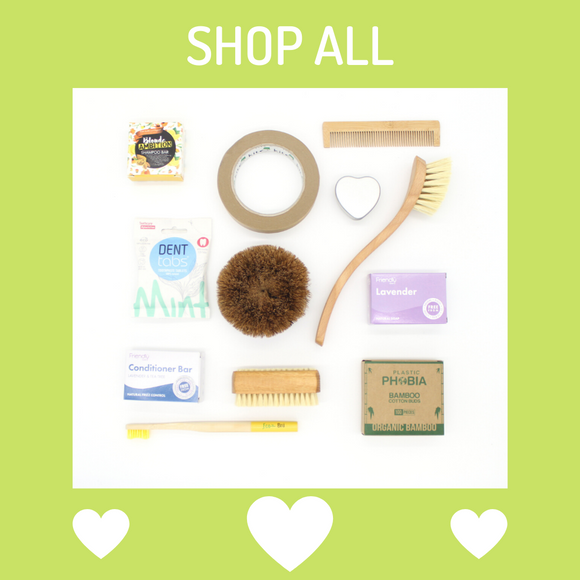 Plastic free selection of household and bathroom items