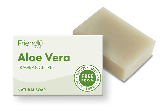 Aloe vera plastic free soap bar and cardboard box