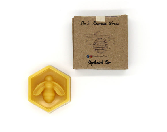 Beeswax wrap refresher bar with recyclable cardboard box