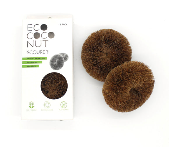 Eco Coconut scourer two pack with box