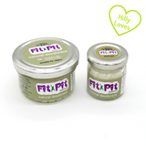 "Small jar, 25ml and large jar 100ml of organic all natural womens fit pit deodorant with green ""hilly loves"" heart"