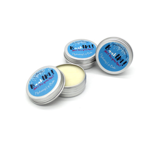 Vegan friendly lip balms in plastic free tins