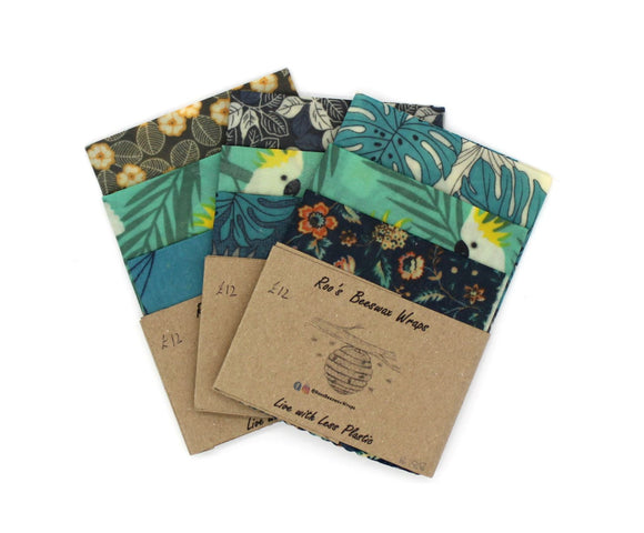 Beeswax Wraps - Multi Pack (S.M.L) - Cockatoo