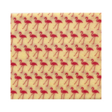 Beeswax Wraps - 3 Large Wraps.  Flamingo (Pink on White)