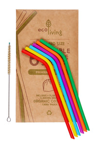 Reusable Silicone Straws (6 pack)
