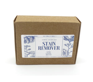Stain remover bar in cardboard box