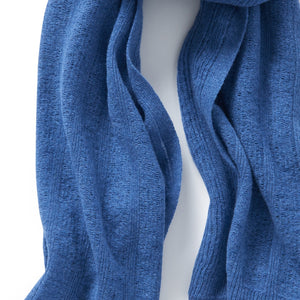 Merino Lambswool Brant Wrap in Denim