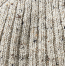 Donegal Wool Beanie Hat in Stone