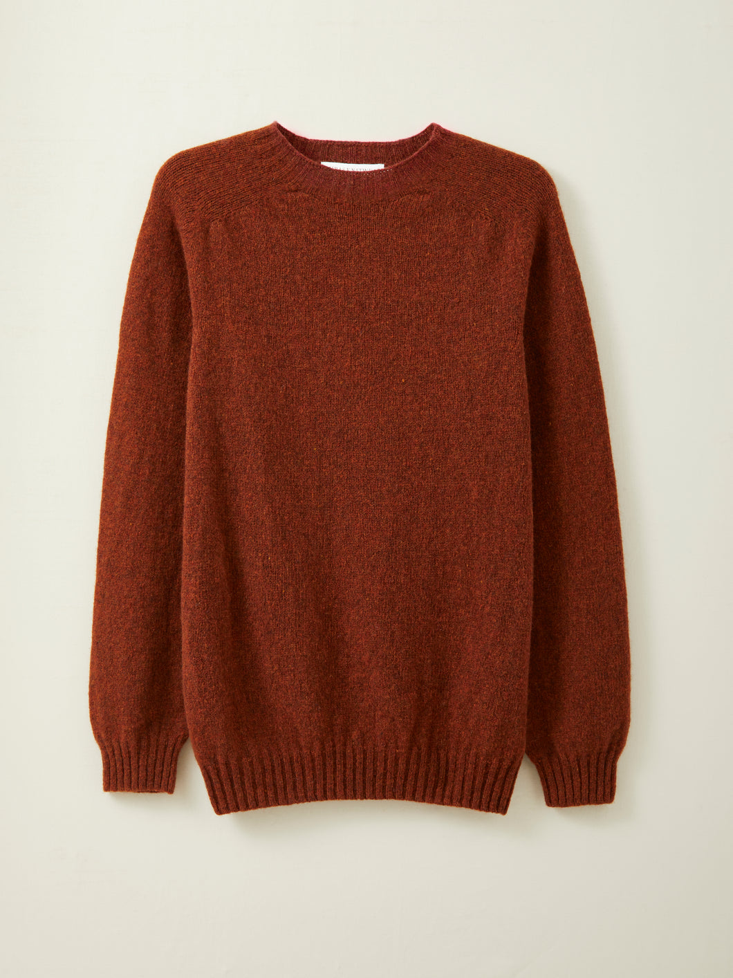 Mens Lambswool Seamless Jumper in Russet