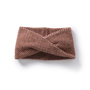 Roa Soft Lambswool Twist Headwrap in Russet/Linen