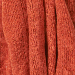Fine Lambswool Brant Wrap in Burnt Orange