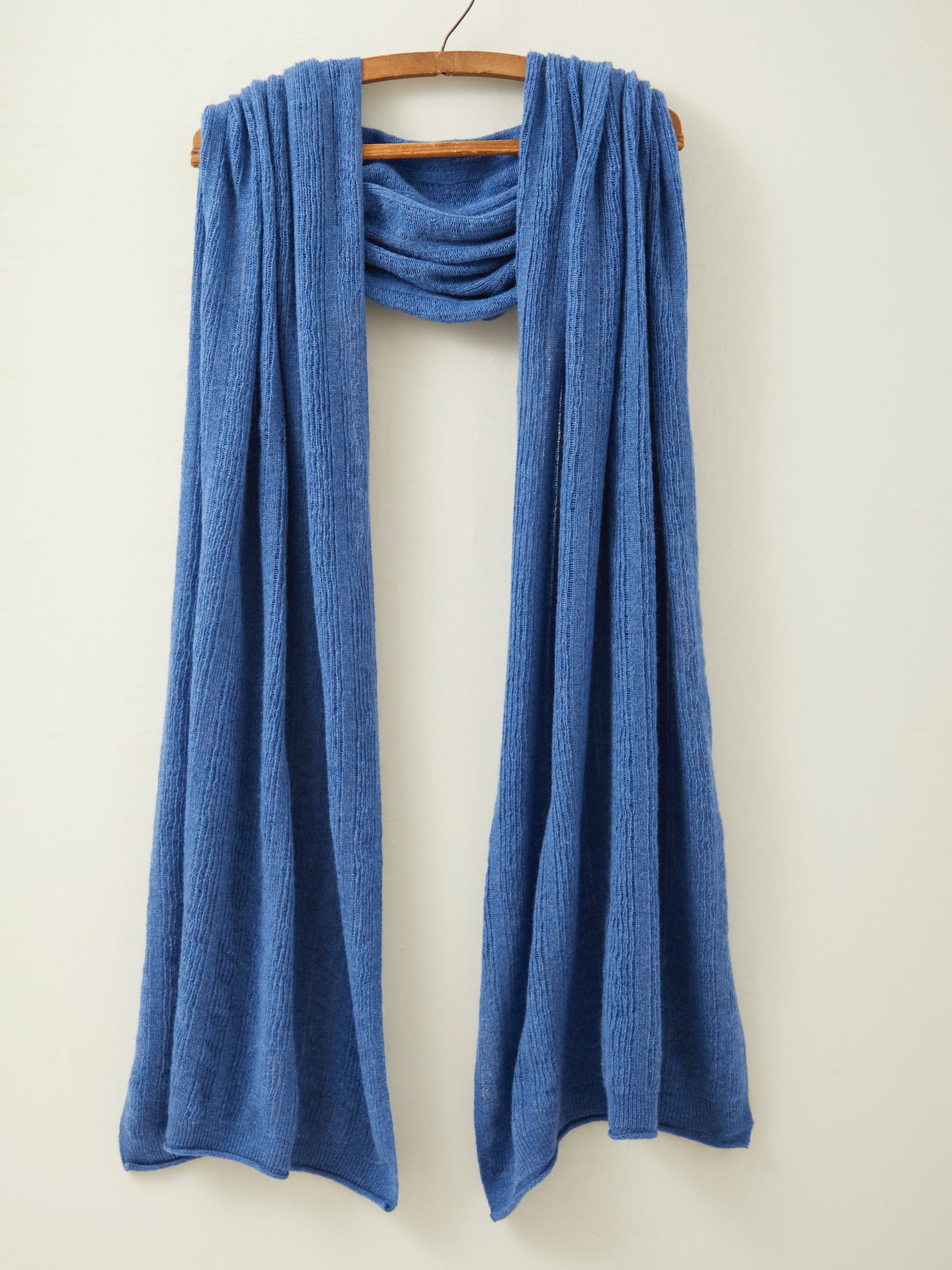 Fine Lambswool Brant Wrap in Denim