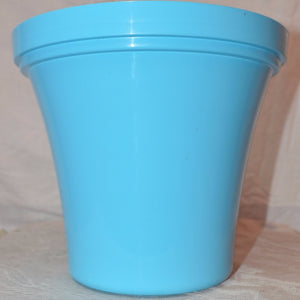 Sky Blue Plastic Flower Pot 8""