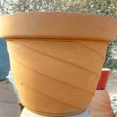 Yellow Cement Pot
