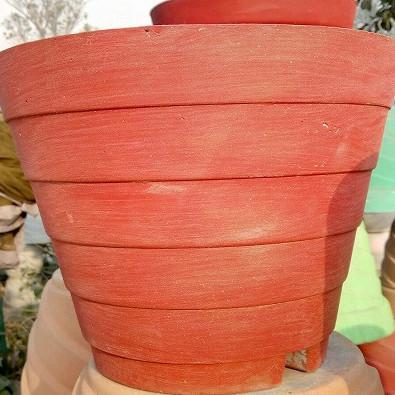 Red Cement Pot