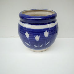 L99 - Blue Ceramic Flower Pot