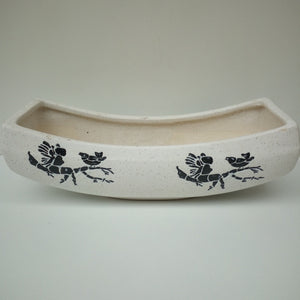 L103 - Boat Ceramic Planter (Angel Sparrow Design)