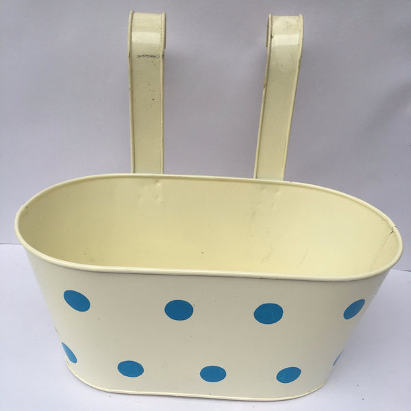 L105 - Double Hook Railing Planter (With Polka Dots)