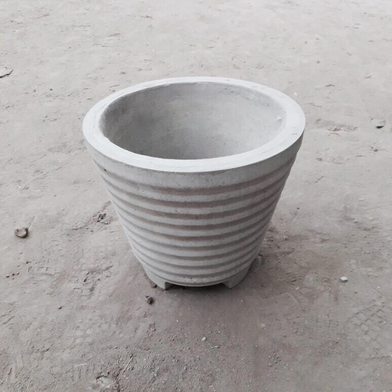 "Cement Planter 12"" - Stripes"