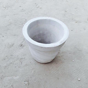 "Cement Planter 10"" - Stripes"
