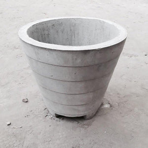 "Cement Planter 16"" - Stripes"