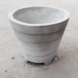 "Cement Planter 20"" - Stripes"