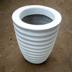 L20 - White Ring Fiber Pot 15.8