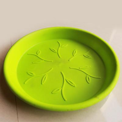 Green Plastic Plate 5""