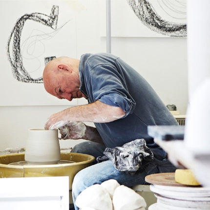 Irish ceramicist jack doherty at work in his studio