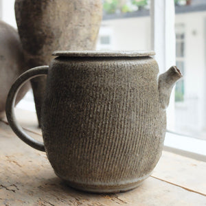 Hannah Blackall Smith Medium Stone Grey Fluted Teapot 9