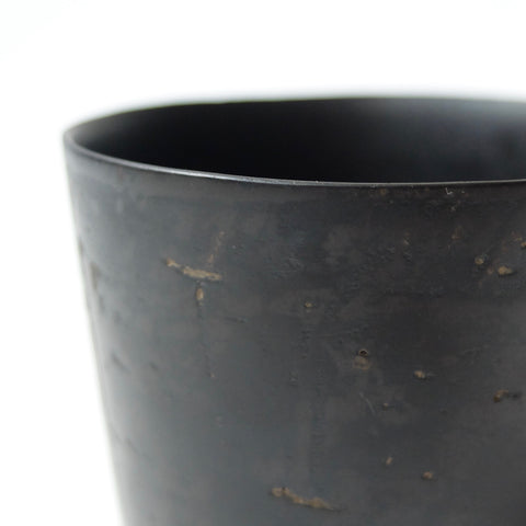 Kenta Anzai Fine Earthenware Black Soba Cup