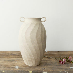 Robynn Storgaard Raw Carved vase with handles 13