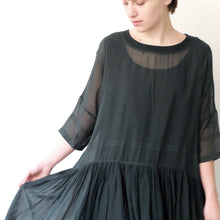 AO embroidered forest green dress
