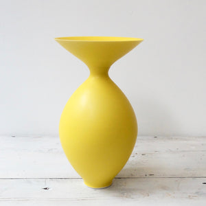 Anna Silverton Porcelain Jar with soft matt yellow glaze 22