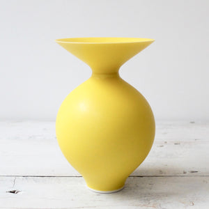Anna Silverton Porcelain Jar with soft matt yellow glaze 26