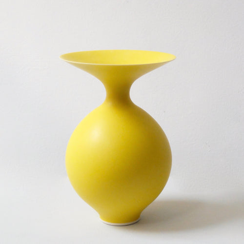 Anna Silverton Porcelain Jar with soft matt yellow glaze 7