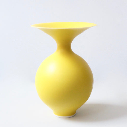 Anna Silverton Porcelain Jar with soft matt yellow glaze 6