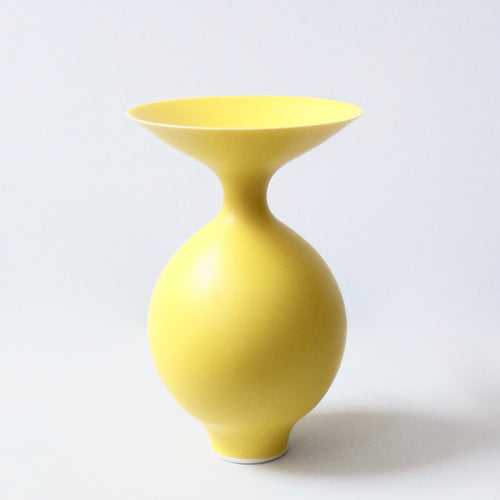 Anna Silverton Porcelain Jar with soft matt yellow glaze 5