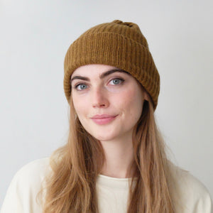 Mature.Ha pleats knit cashmere cap